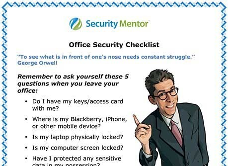 Example of Security Mentor lesson summary tips from our Office Security awareness training lesson