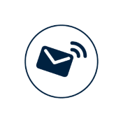 Icon for customer email support
