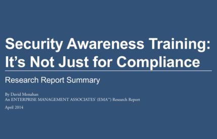 EMA industry report on security awareness training sponsored by Security Mentor