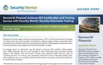 Security Mentor Case Study with Genworth Financial