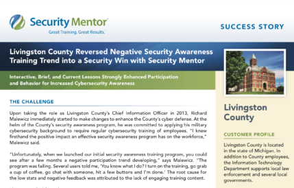 Security Mentor Case Study with Livingston County, Michigan
