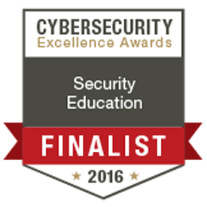 Security Mentor Finalist in the 2016 Cybersecurity Excellence Awards for Security Education
